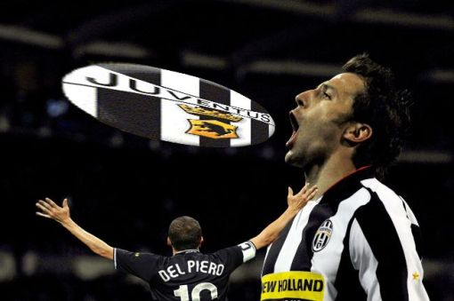L\'urlo di del piero durante Juve-Milan